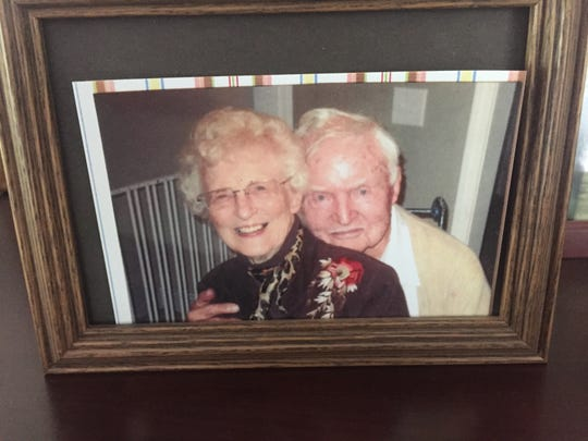 """Vance """"Red"""" Hill and wife Della were married for 69 years."""