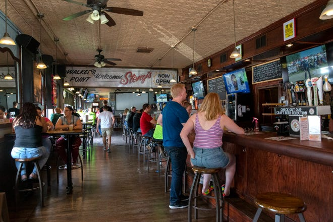 Customers come to eat and drink at Steny's Tavern & Grill on Friday, June 5, 2020, in Walker's Point.