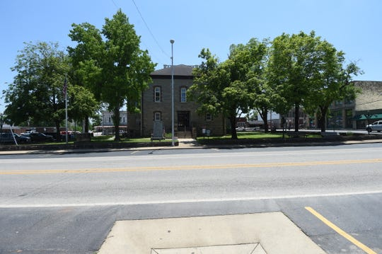 The Marion County Courthouse stood empty under the scorching sun Friday after the county judge shut the courthouse down in advance of a planned protest that never materialized.