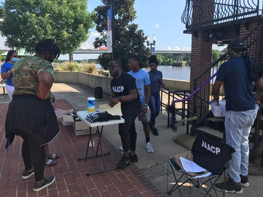 The Monroe/Ouachita Parish branch of the NAACP had a registration drive Friday at the RiverMarket in Monroe.