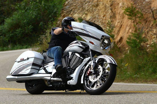 Tony McCarty of the band Jeff & The Johnsons is bringing his Victory Magnum X1 on Saturday to a show at WVC Motorcycle Garage in Prattville.