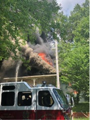 An afternoon fire caused major damage to a South Bainbridge Street structure on June 5.