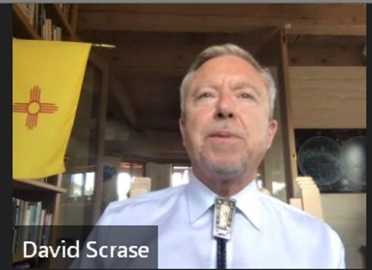 New Mexico Human Services Secretary David Scrase, seen in a screenshot from a virtual news conference on Friday, June 5, 2020.