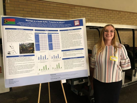 New Mexico State University senior Hailey Taylor presented her data on differences in chronic disease risk between men and women in the Republic of Vanuatu at the Southwestern Association of Biological Anthropology meeting in Tempe, Arizona, in November 2019. Through the Discovery Scholars Program, Taylor is revising her research plan to focus on differences in perception and behavior between female and male college students as they react to the COVID-19 pandemic.