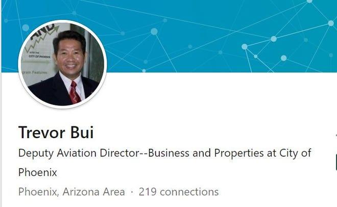 A screenshot of Trevor Bui's LinkedIn page.