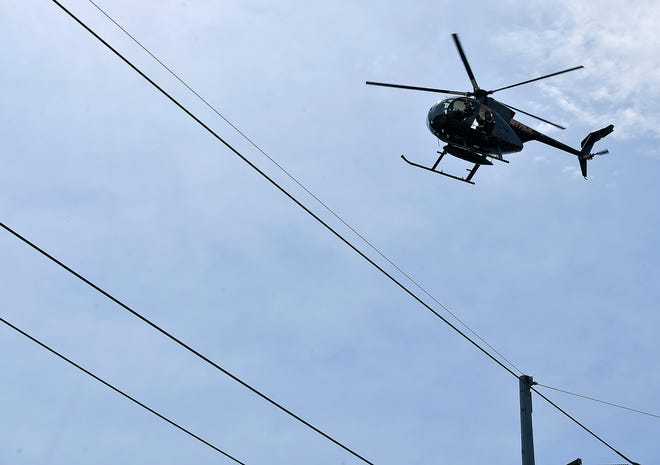 Met-Ed inspects transmission lines crossing Hollywood Drive in Spring Garden Township, Thursday, June 4, 2020. The inspections will continue for the next few weeks across York CountyJohn A. Pavoncello photo