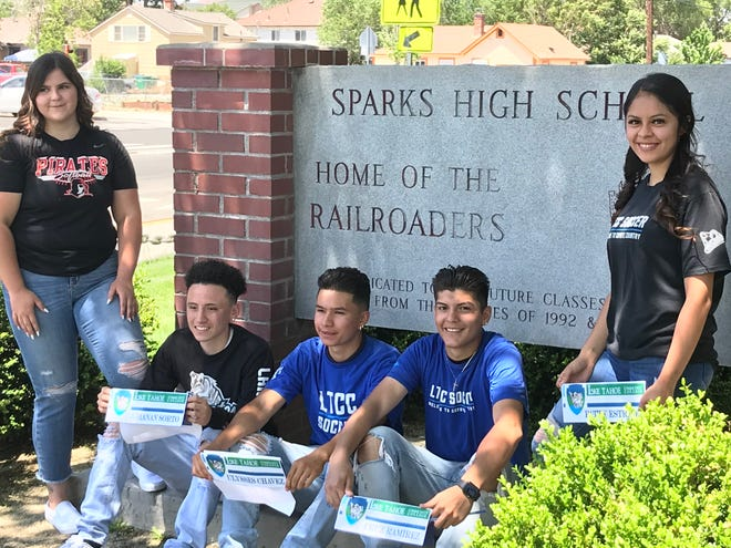 Sparks had five seniors sign for college athletics on Friday.