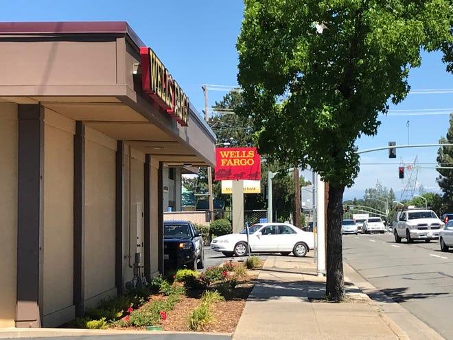 The Wells Fargo branch on East Cypress Avenue in Redding is seen Thursday, June 4, 2020.