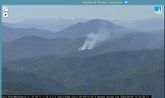 The seven-acre Brock Fire was reported near Lake Shasta Thursday afternoon, June 4, 2020.