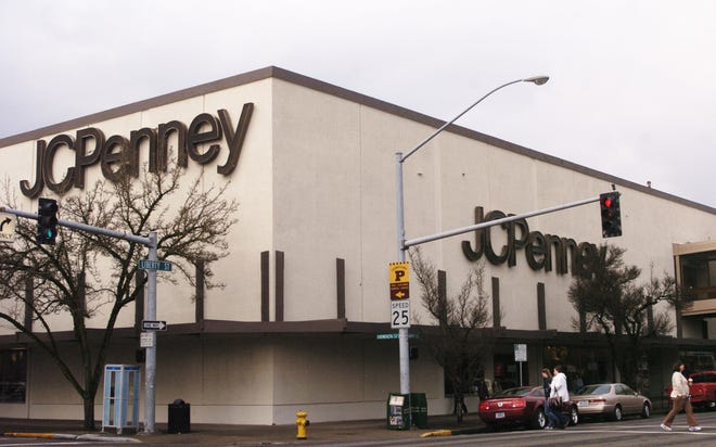 The building formerly occupied by JCPenney is up for sale.