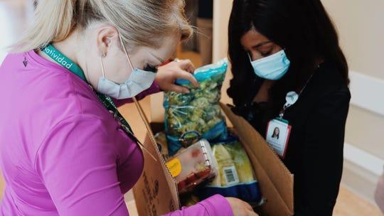 Fresh produce is delivered to Natividad hospital staff June 3, 2020.