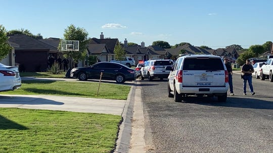 Officers with the San Angelo Police Department arrive in the 1200 block of Daniel Street for reports of a shooting victim Friday, June 5, 2020.