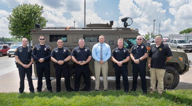 Seven officers are retiring after 25 years with the Springfield Police Department.