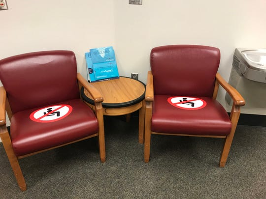 Observations of masks worn and social distancing at University of Virginia Health System on Friday, June 5, 2020.