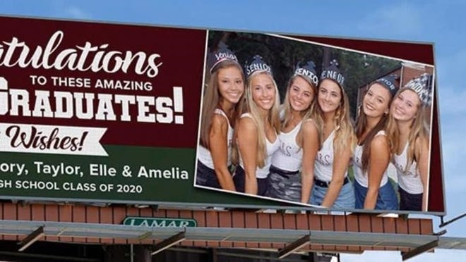 Mother of a Chiles graduate arrange for this billboard.