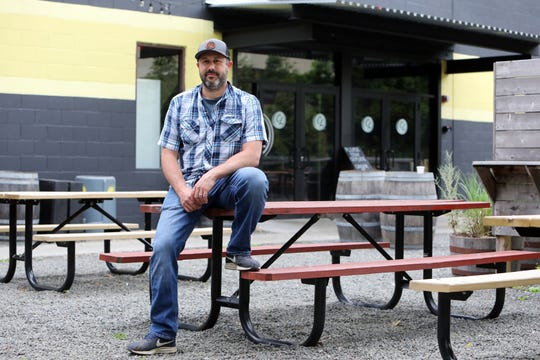 Scott Vaccaro, founder/owner of Captain Lawrence Brewery in Elmsford, June 3, 2020. On March 16 when the coronavirus first impacted the lower Hudson Valley, Vacarro laid off 65% of his staff including his brewers. Management positions were, for the most part, kept intact and it was those folks who organized pickup and delivery direct to consumers.