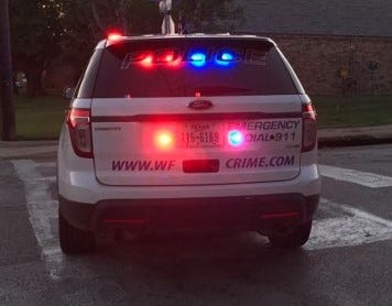 Wichita Falls police vehicle