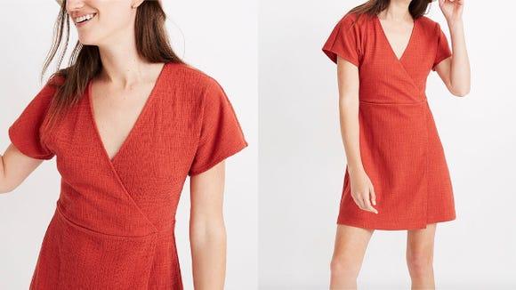 Rock this wrap dress all summer long,