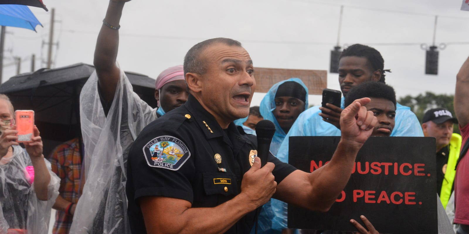 'Putting your knee on someone's neck is not allowed here': Palm Bay police  chief