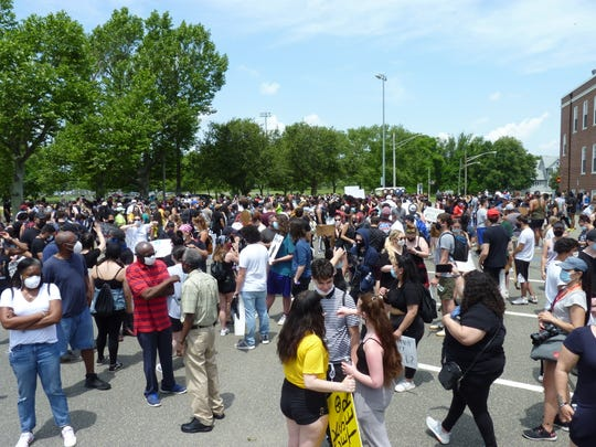 Hundreds came out to the Sayreville Black Lives Matter rally on June 6, 2020.
