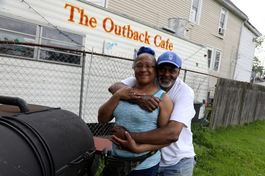 Colita Callins-Liggens, 54 and husband James Liggens, 63 in front of their Southwest Detroit home on Thursday, June 4, 2020.The couple talked about the protesting going on in the city and how happy they are that the protesters have been peaceful with no looting, fires or other destruction like other cities have experienced over the past several days.