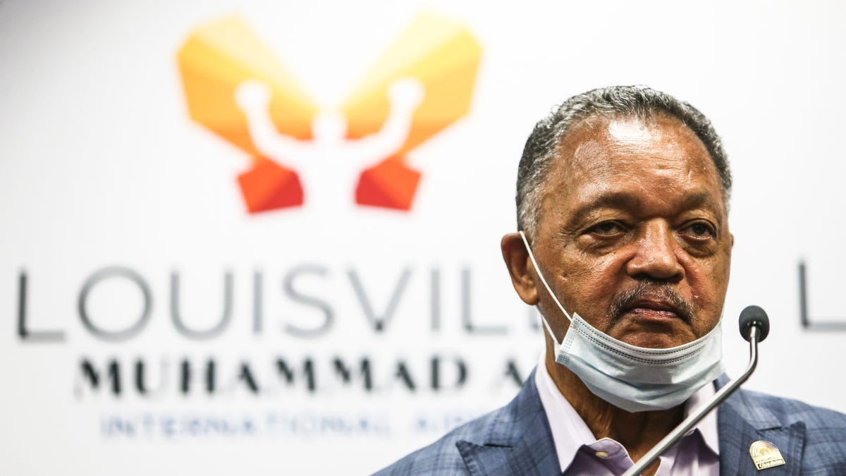 Rev. Jesse Jackson calls for boycotts in Kentucky...