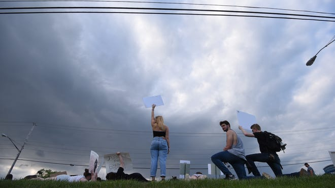 This photo by News Journal photographer Jason J. Molyet, is nominated for best news photo in the 2020 Ohio APME journalism contest. It was taken during a Black Lives Matter rally in Ontario on June 5, 2020.