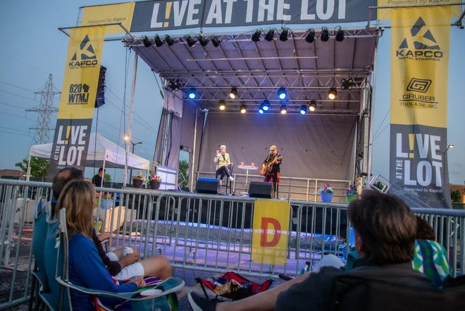 "Thompson Square performed in Grafton on Friday for the first night of Kapco Metal Stamping's ""Live at the Lot"" drive-in concert series. It was a private, free performance for local health care workers."