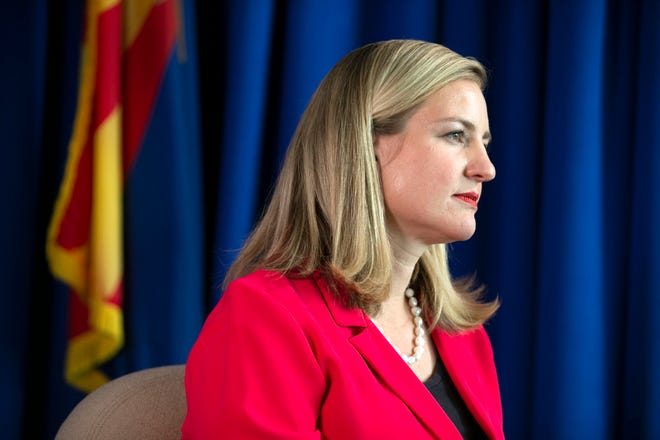 Phoenix Mayor Kate Gallego as seen in the mayor's conference room at Phoenix City Hall on June 5, 2020.