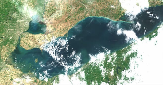 This true-color image from the Copernicus Sentinel-3a satellite was taken on June 2 and shows several rivers have produced plumes of brownish sediment-laden water. The central basin coasts also have brighter areas of sediment stirred up by the wind.