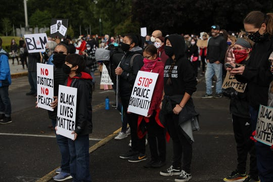 A couple thousand protesters rallied at the Oregon State Capitol Saturday in Salem to demand police reform and the elimination of racism in America.