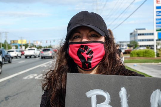 """Systemic racism is an obvious problem that cannot be ignored,"" Rehoboth resident Nicole Cucinotta said during the ""Enough is Enough"" protest along Coastal Highway on Friday, June 5, 2020."
