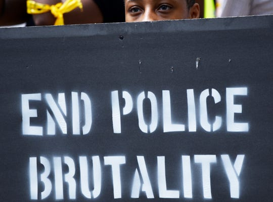 A protest and march against police brutality Saturday afternoon, June 6, 2020, from Government Plaza to the Shreveport Police Department in downtown Shreveport.