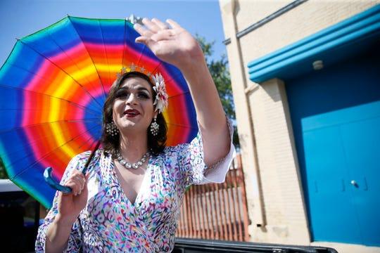 Michael Reyes, known as Barbie, organizes the 2020 Gay Pride social-distancing parade Saturday, June 6, 2020, in Downtown El Paso.
