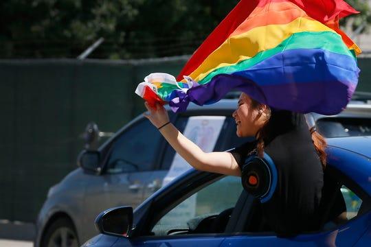 The Gay Pride social-distancing parade was held Saturday, June 6, 2020, in Downtown El Paso.