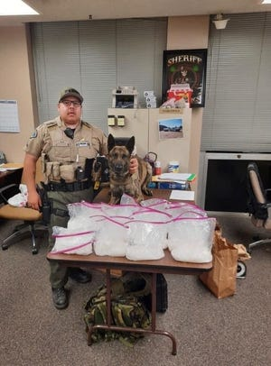 Tulare County deputy Javier Montoya and his K9 partner, Tex, made a traffic stop while patrollingon Highway 99.