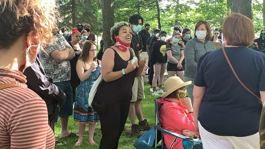 About 400 residents came to Binghamton's Recreation Park on June 7, 2020, many speakingaboutcriminal justice reform, affordable housing, education and substance-use issues.