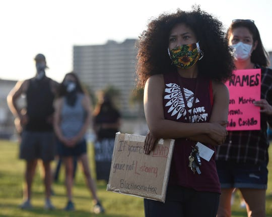More than a hundred protesters attended the Black Leadership Standing in Solidarity March at Water's Edge Park Saturday, June 6 in Corpus Christi, TX.