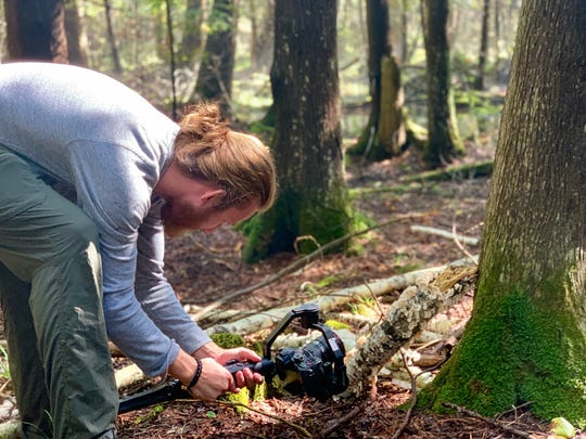 Discover Wisconsin crews film mushrooms at Kangaroo Lake Nature Preserve in Baileys Harbor ahead of an episode devoted to the state's land trusts.