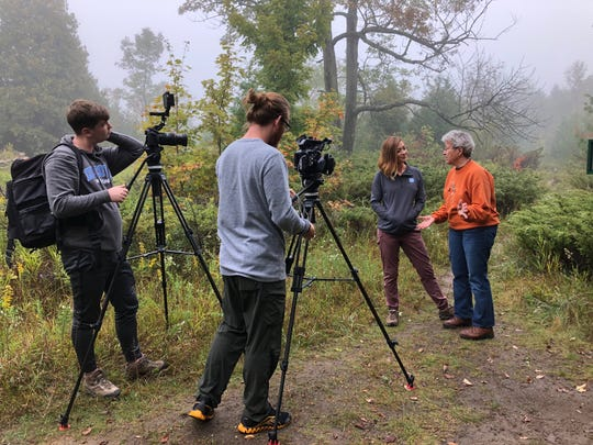 Discover Wisconsin crews film at Kangaroo Lake Nature Preserve in Baileys Harbor ahead of an episode devoted to the state's land trusts.