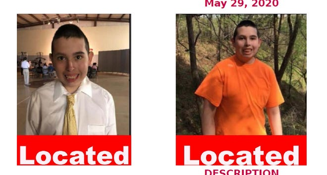 The Federal Bureau of Investigation said missing autistic 14-year-old Nathan Covarrubias was found alive in Tennessee on Sunday, June 7, 2020. He had been missing since May 29.