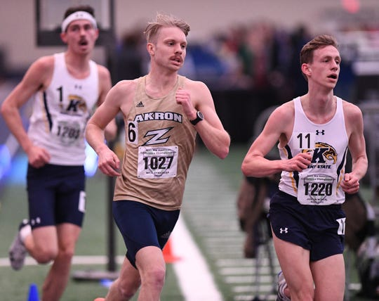 Nick Stricklen, a three-sport All-Ohioan for Lexington High School, is headed for medical school after competing in cross country and track for the University of Akron