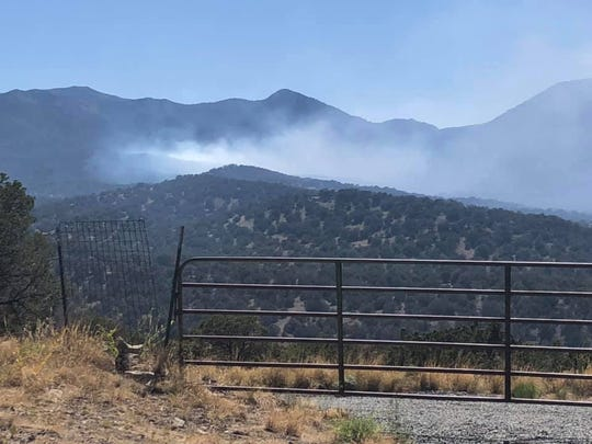Residents spotted a fire southwest of Nogal about 4:30 p.m. Sunday, June 7, 2020.