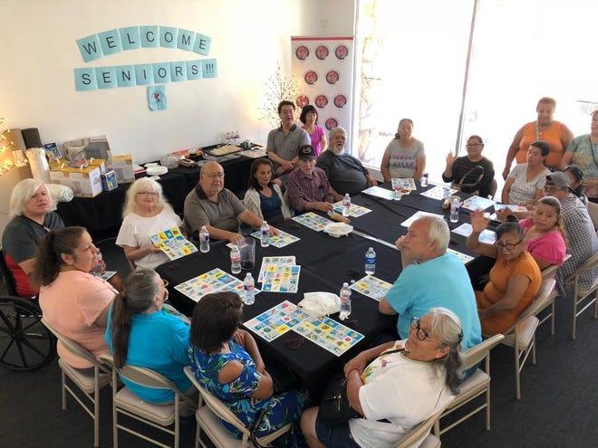Seniors in San Bernardino enjoy Unidos Por La Música's senior bingo day.