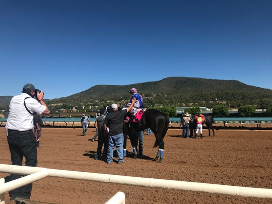 For The Irony won the 350-yard Ruidoso Quarter Horse Juvenile on Sunday for trainer Sergio Ibarra.