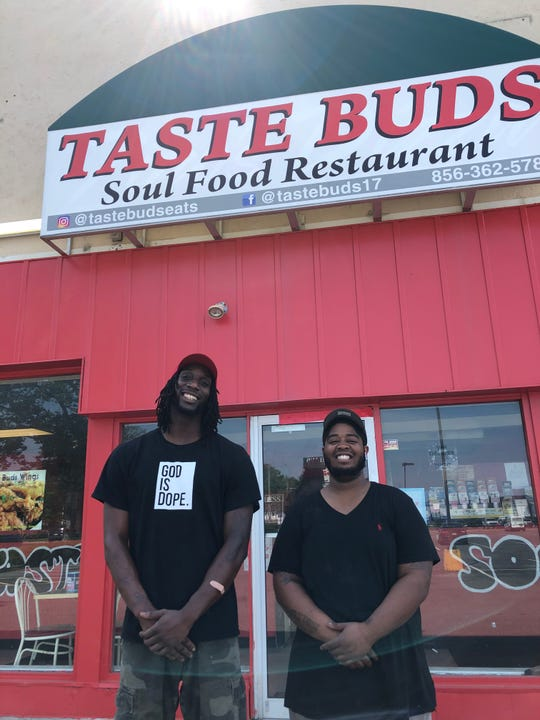 Cousins Darryl McDuffie (left) and Donald Bristow are the owners of Taste Buds Soul Food Restaurant in Vineland.