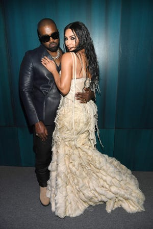 Kanye West and Kim Kardashian West attended the 2020 Vanity Fair Oscar Party on Feb. 9 in Beverly Hills, California.