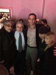 """Vincent Pastore, Robert DeNiro, Nick Codero, Steven Van Zandt and Mauren Zan Zandt at the opening night of """"A Bronx Tale,"""" on Dec. 1, 2016."""