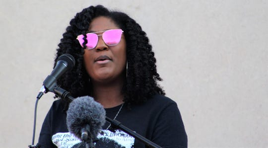 Alisha Taylor provided one of several younger points of view at Sunday's community rally at Abilene Christian University. She spoke of being free to breathe, but not the stale air of oppression. June 7 2020