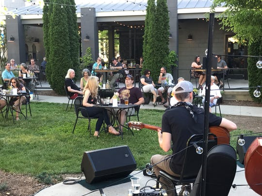 Isis Music Hall hosted concerts on the lawn next door to the venue June 5 and 6 with performances by Rob Sine and Country Pour, and Steve Karla with Hot Club of Asheville.
